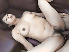 Asian mom craves for hard cock in her hairy twat
